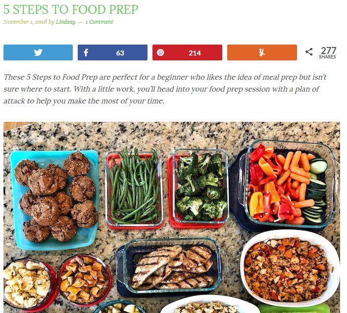 Food Prep Can Help You Stick to Your Weight Loss Plan