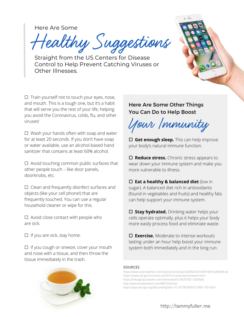 checklist to boost immunity
